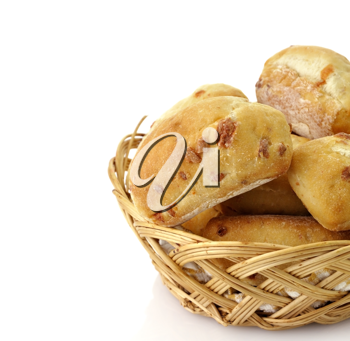 Royalty Free Photo of a Basket of Buns