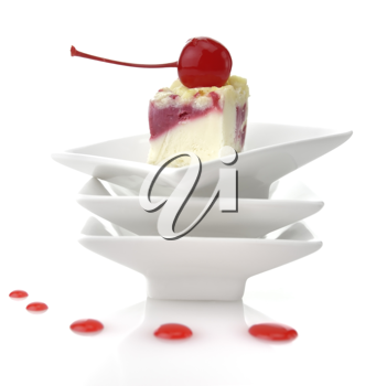 Royalty Free Photo of a Slice of Cheesecake