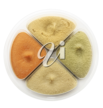 Hummus Dip Isolated On White Background