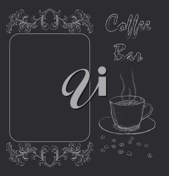 Handdrawn menu for cafe, coffee house. vector
