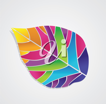 Royalty Free Clipart Image of an Abstract Leaf