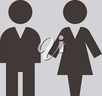 People icon - man and women