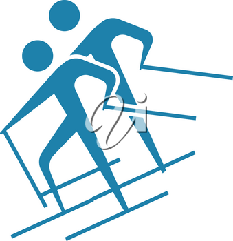 Winter sport icon - Cross-country skiing icon