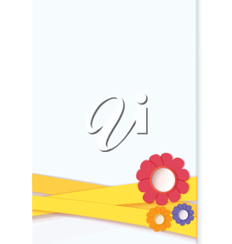 Royalty Free Clipart Image of a Floral Card