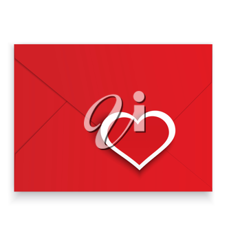 Royalty Free Clipart Image of a Love Letter