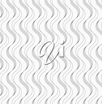 Abstract geometrical pattern. Modern monochrome background.Flat gray with slim waves.