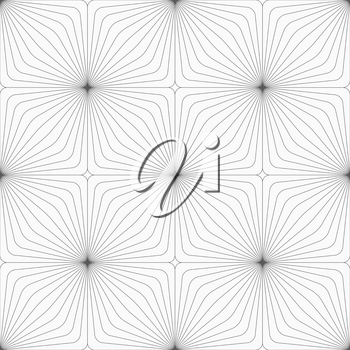 Monochrome abstract geometrical pattern. Modern gray seamless background. Flat simple design.Gray diagonally striped squared reflected.