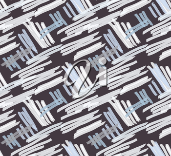 Marker hatched gray on brown.Abstract hand drawn with ink and marker brush seamless background.Textured pattern.