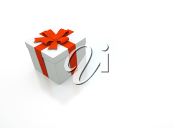 Royalty Free Clipart Image of a 3d Present