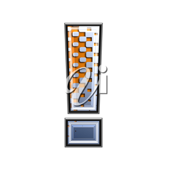 Halftone 3d exclamation point