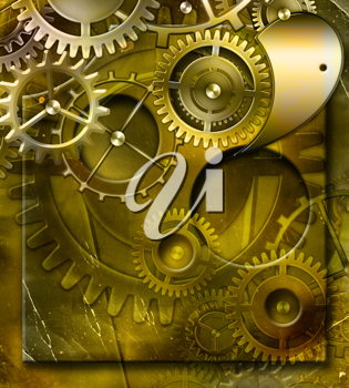 Royalty Free Clipart Image of a Gear Background