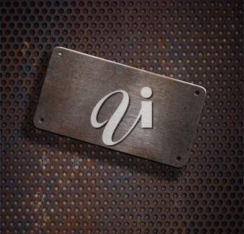 Royalty Free Photo of a Metal Plate Background