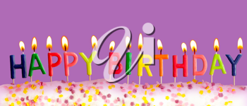 Royalty Free Photo of a Birthday Cake With Candles