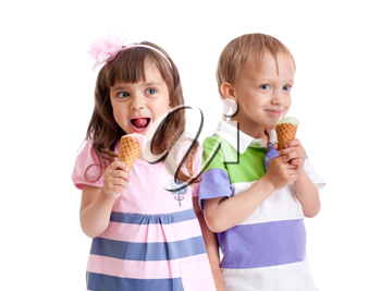 Royalty Free Photo of Two Kids With Ice Cream