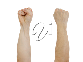 Royalty Free Photo of Clenched Fists