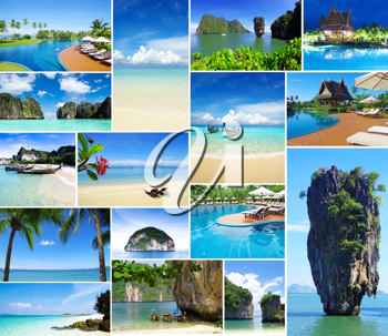 Royalty Free Photo of a Collage of Thailand Images