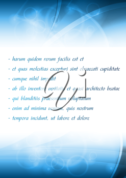 Royalty Free Clipart Image of a Business Brochure Template