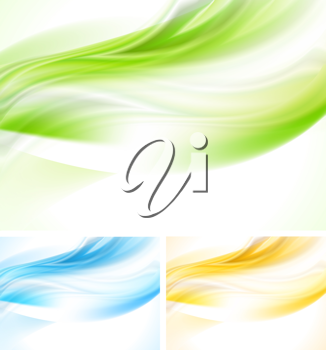Royalty Free Clipart Image of a Set of Wave Backgrounds