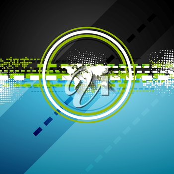 Bright technology flat style background. Vector design