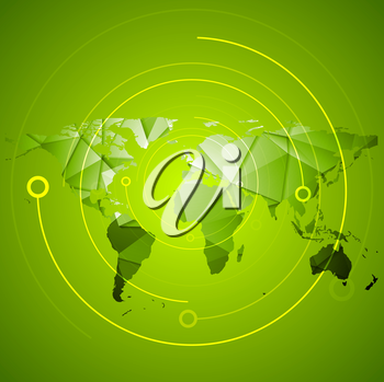 Abstract bright green high technology background. Vector design illustration