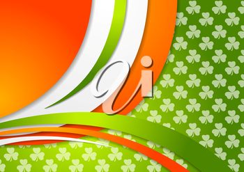 St. Patrick Day background with Irish colors. Vector graphic corporate design