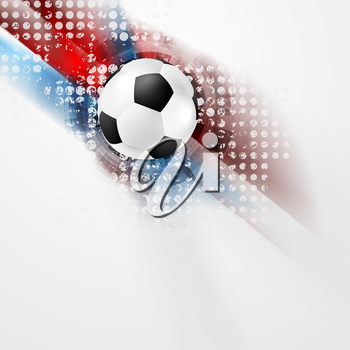 European Football Championship in France grunge abstract background. Vector Euro sport ball design