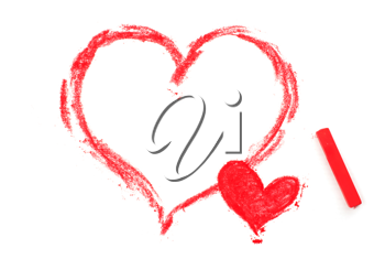 Royalty Free Photo of Painted Hearts