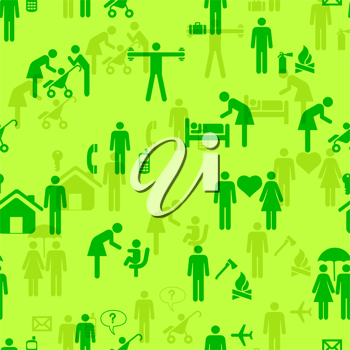 Royalty Free Clipart Image of Icons of People