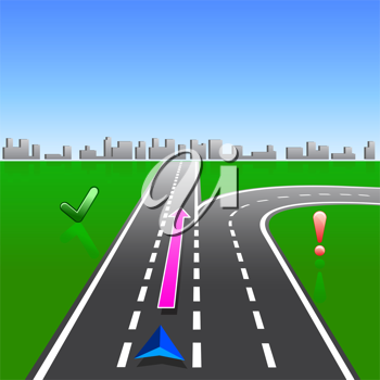 Royalty Free Clipart Image of a Map Navigator
