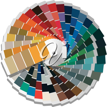 Royalty Free Clipart Image of a Colour Palette