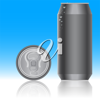 Royalty Free Clipart Image of a Can of Pop