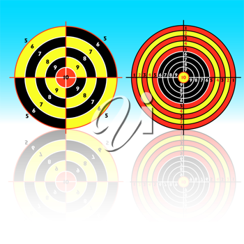 Royalty Free Clipart Image of Targets For Shooting Practice