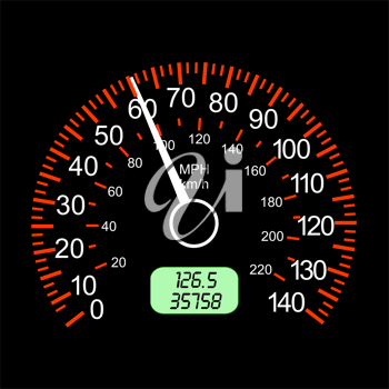 Royalty Free Clipart Image of a Speedometer