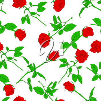 Royalty Free Clipart Image of a Rose Background