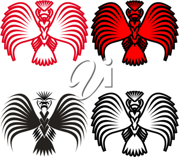 Royalty Free Clipart Image of Eagle Symbols