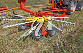 agricultural machinery for preparing hay