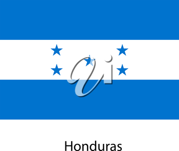 Flag  of the country  honduras. Vector illustration.  Exact colors.