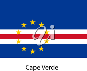 Flag  of the country  cape verde. Vector illustration.  Exact colors.