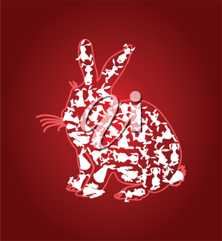 Royalty Free Clipart Image of a Rabbit