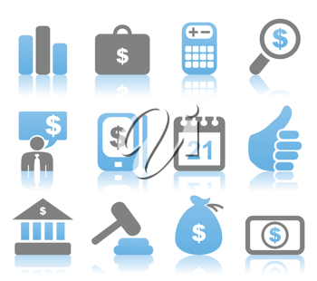 Set of icons for business. A vector illustration