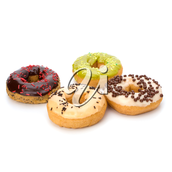 Delicious doughnut isolated on white background