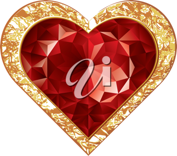 Royalty Free Clipart Image of Heart Jewel