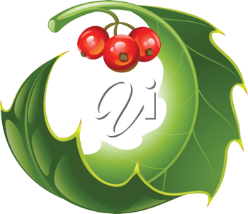 Royalty Free Clipart Image of a Holly