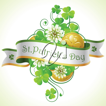 Royalty Free Clipart Image of a St. Patrick's Day Banner