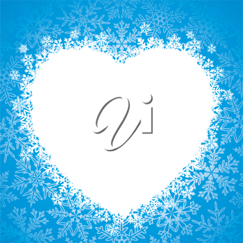 Royalty Free Clipart Image of Winter Heart