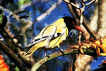 Royalty Free Photo of a Yellow Bird