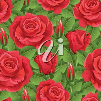 Royalty Free Clipart Image of a Roses Background