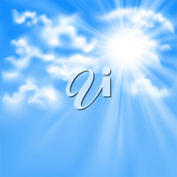 Royalty Free Clipart Image of a Sunny Blue Sky