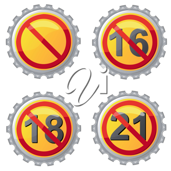 Royalty Free Clipart Image of No Drinking Signs