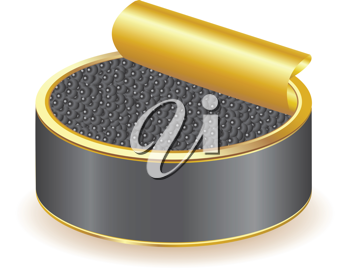 Royalty Free Clipart Image of a Can of Caviar